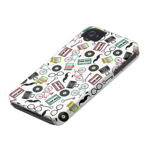 Hipster iPhone 4 Case-Mate Barely There™