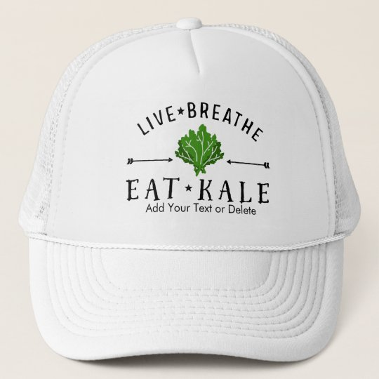 e4259b8e13253 Hipster Kale Live Breathe Eat Kale Custom Trucker Hat
