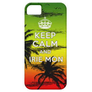 "Hipster keep Calm & Irie ""Mon"" Cover iPhone 5 Cover"