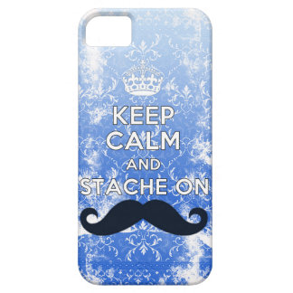 Hipster keep Calm & Stache On iPhone SE/5/5s Case