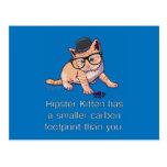 Hipster Kitten Postcard