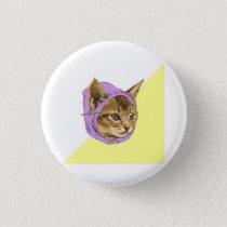 Hipster Kitty Cat Advice Animal Meme Pinback Button