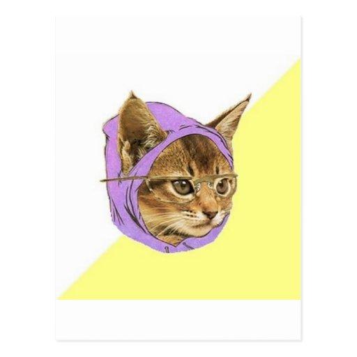 Hipster Kitty Cat Advice Animal Meme Postcards