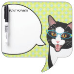 Hipster Kitty Geek Cat Don't Forget! Memo Board Dry Erase Boards