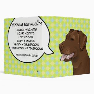 Hipster Lab Recipe Binder Customizable geek Dog