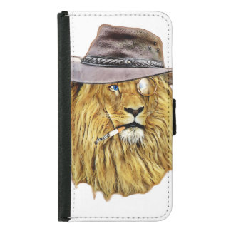 Hipster Lion Animal Wallet Phone Case For Samsung Galaxy S5