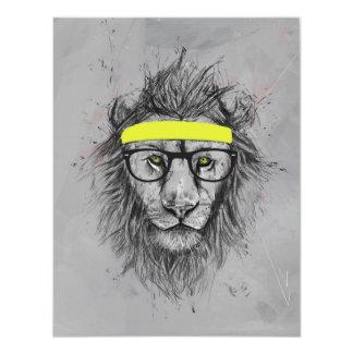 Hipster lion card