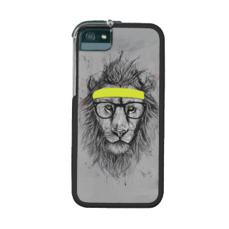 Hipster lion iPhone 5/5S cases