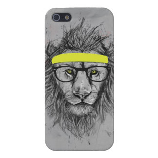 hipster lion case for iPhone SE/5/5s