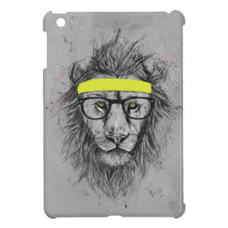 hipster lion iPad mini case