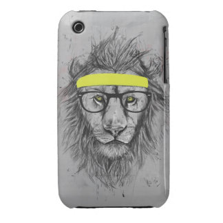 hipster lion iPhone 3 cover
