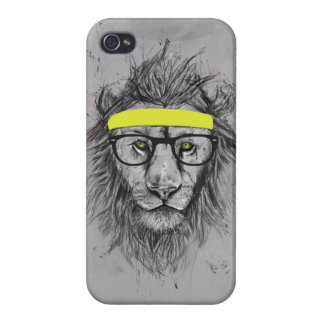 hipster lion iPhone 4/4S case