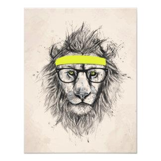 Hipster lion (light background) card