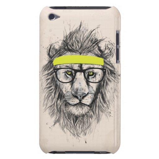 Hipster lion (light background) iPod Case-Mate cases
