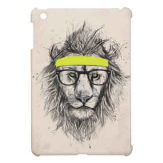 hipster lion (light background) iPad mini cover