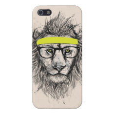 Hipster Lion (light Background) Iphone Se/5/5s Cover at Zazzle