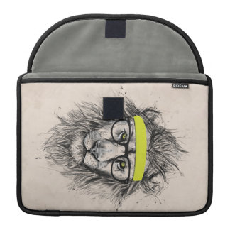 Hipster lion (light background) MacBook pro sleeves