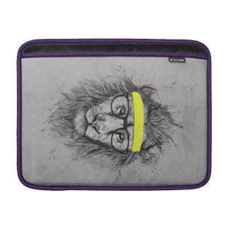 Hipster lion MacBook air sleeves