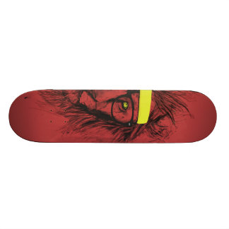 hipster lion (red) skateboard decks