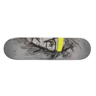 hipster lion skate deck