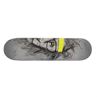 Hipster Lion Skateboard at Zazzle