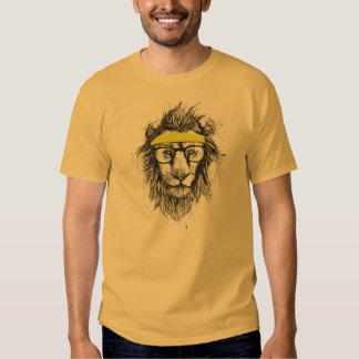 Hipster lion tee shirt