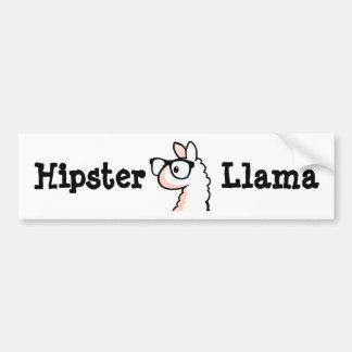 Hipster Llama Bumper Sticker
