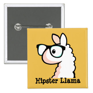 Hipster Llama Button