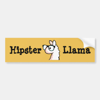 Hipster Llama Car Bumper Sticker