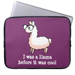 Hipster Llama Computer Sleeve