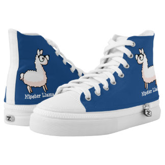 Hipster Llama High-Top Sneakers