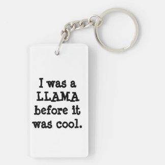 Hipster Llama Keychain