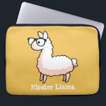 "Hipster Llama Laptop Sleeve<br><div class=""desc"">Hipster was a llama before it was cool. You can chose any color for the background color: blue,  purple,  green,  etc. Have fun with these quirky llamas!</div>"