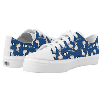 Hipster Llama Low-Top Sneakers