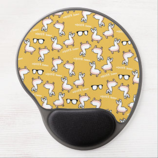 Hipster Llama Madness Gel Mouse Pad