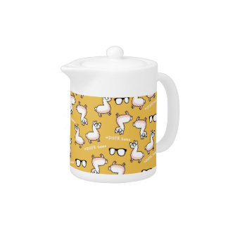 Hipster Llama Madness Teapot