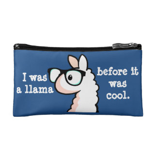 Hipster Llama Makeup Bag