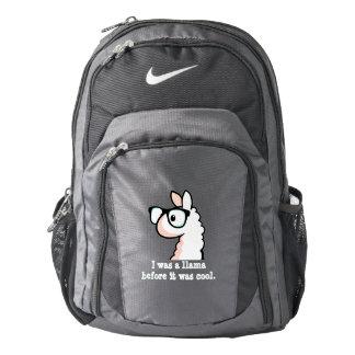 Hipster Llama Nike Backpack