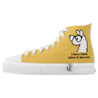 Hipster Llama Printed Shoes