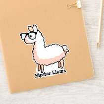 Hipster Llama Sticker