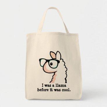 YamPuff Hipster Llama Tote Bag