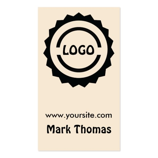 Hipster logo badge business card zazzle for Hipster business card