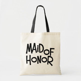 Hipster Maid of Honor Canvas Bags
