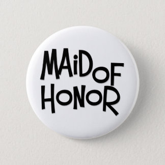 Hipster Maid of Honor Pinback Button