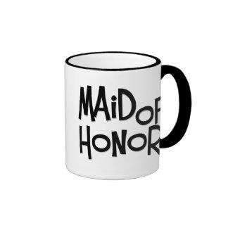 Hipster Maid of Honor Ringer Mug