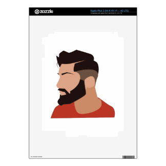 Hipster Man Skins For iPad 3