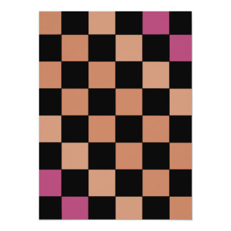 Hipster Modern Checkerboard CricketDiane 5.5x7.5 Paper Invitation Card