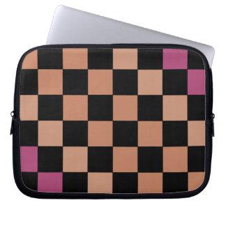 Hipster Modern Checkerboard CricketDiane Laptop Computer Sleeves