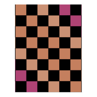 Hipster Modern Checkerboard Post Card