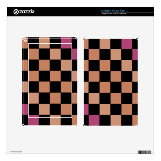 Hipster Modern Checkerboard Skin For Kindle Fire
